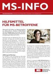 MS-Info - Schweizerische Multiple Sklerose Gesellschaft