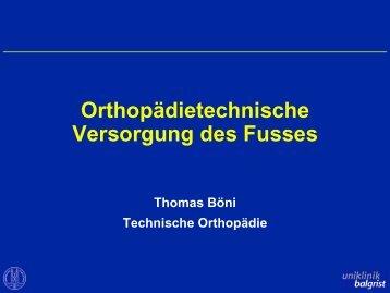 Orthopädische Fussversorgung - Rheuma Schweiz