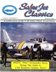 Volume 12 Number 2 Summer 2004 - Sabre Pilots Association