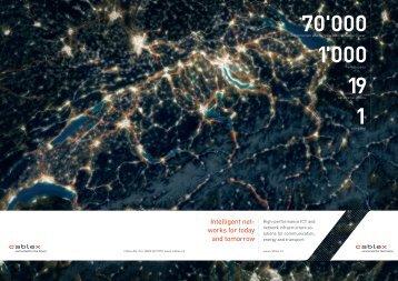 Corporate brochure - cablex AG