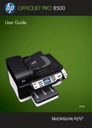 HP Officejet Pro 8500 Printer series User Guide - static.highspeedb...