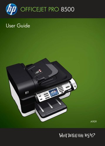 HP Officejet Pro 8500 Printer series User Guide - static.highspeedb...