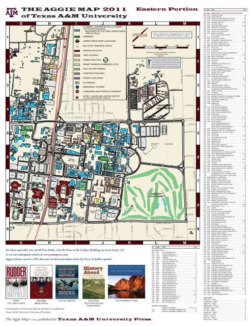 The Aggie Map Texas A M University Press Consortium