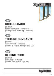 schiebedach toiture ouvrante sliding roof - Porta Finestra
