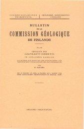 COMMISSION GEOLOGIQUE