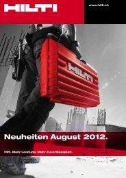 Neuheiten August 2012. - Hilti