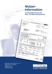 Nutzerinformation - BRUNATA Hamburg