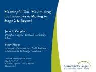 Meaningful Use - Massachusetts League of Community Health ...