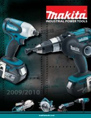 Makita Industrial Power Tools Catalog