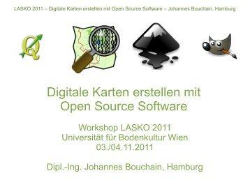 Digitale Karten erstellen mit Open Source Software - Stadtkreation