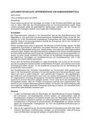 Leitlinien für die gute Vertriebspraxis von Humanarzneimitteln