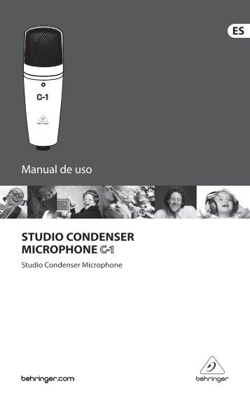 Manual de uso STUDIO CONDENSER MICROPHONE - Behringer