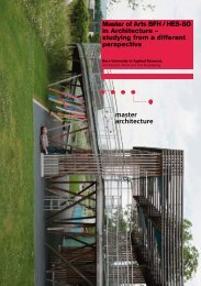 Master of Arts BFH / HES-SO in Architecture – studying from a ... - AHB