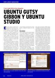 UBUNTU GUTSY GIBBON Y UBUNTU STUDIO - Linux Magazine