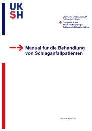 Manual für die Behandlung von Schlaganfallpatienten - Klinik für ...