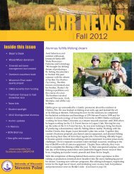 UW-Stevens Point CNR Fall 2012 Newsletter .pdf - University of ...