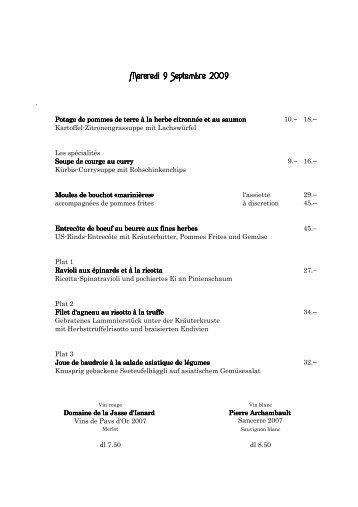 Mercredi 9 Septembre 2009 - Brasserie Lipp