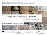 Landscape Architecture Design Simulation - Hochschule Anhalt