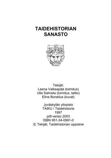 Taidehistorian sanasto (pdf)