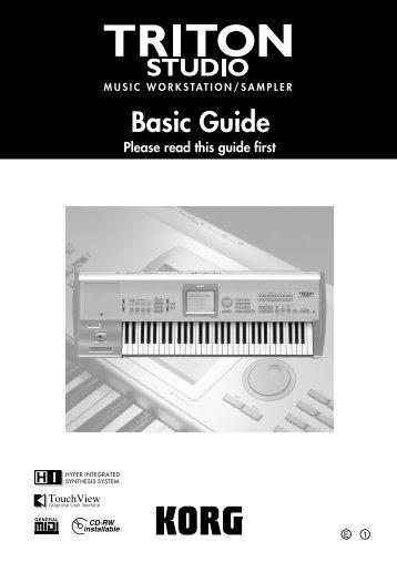 Manual - TRITON STUDIO Basic Guide - Korg