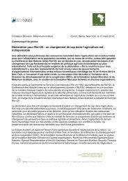 Déclaration pour Rio+20 : un changement de cap dans l ... - Biovision
