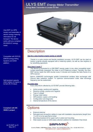 Energy Meter Transmitter - SAPHYMO