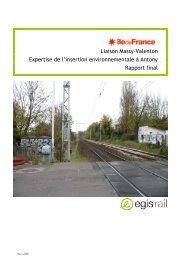 Expertise de l'insertion environnementale à Antony - Ligne Massy ...