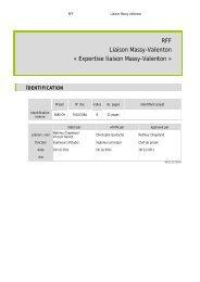 Expertise liaison Massy-Valenton - Ligne Massy-Valenton secteur ...