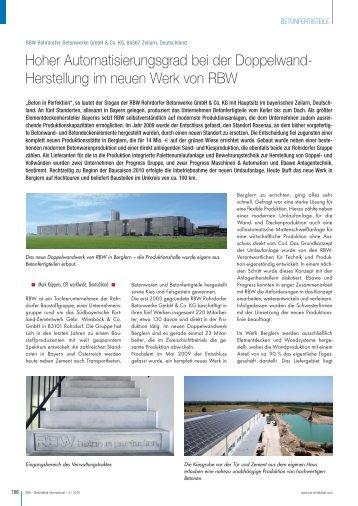 Lesen Sie den gesamten Artikel in der pdf - EBAWE Anlagentechnik ...