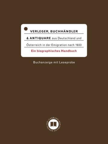 Info-Folder - Verband Deutscher Antiquare e.V.