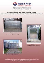 PDF - Stahlarbeiten - Metallbau Martin Koch > Stuttgart