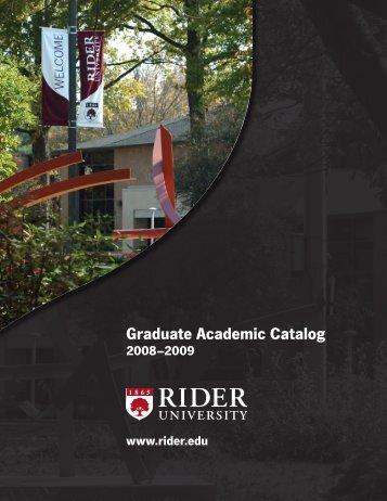 Graduate Academic Catalog - Rider University