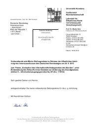 Stellungnahme von Prof. Dr. Martin Ibler, Universität Konstanz