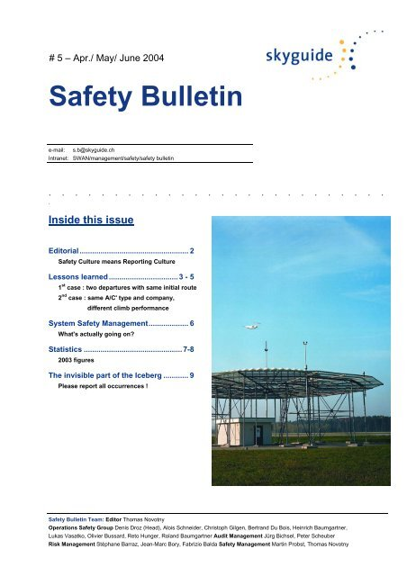 Skyguide Safety Bulletin no  6