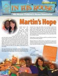 Summer '12 Newsletter Download PDF - His House Children's Home