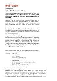 Medienmitteilung Martin Neff wird Chefökonom von Raiffeisen St ...