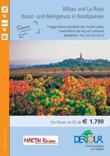 Martin Reisen-Bilbao_Rioja_2013.qxp - MARTIN | Reisebüro und ...