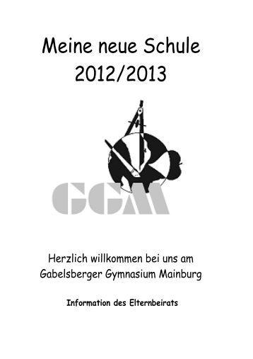 Arbeitsblätter Meine Neue Schule : Kontaktadressen gabelsberger gymnasium mainburg