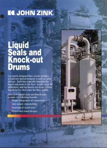Liquid Seals and Knock-Out Drums - John Zink Company