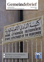 Unsere Gemeinde lädt ein ... Zwei Reisen nach Israel/Palästina ...