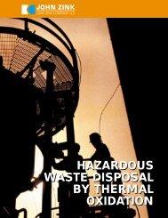 Hazardous Waste Disposal with Thermal Oxidation - John Zink ...