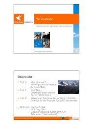 Meilensteine der digitalen Kartenproduktion - Esri Schweiz AG