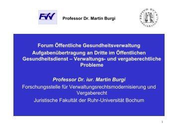 Professor Dr. Martin Burgi