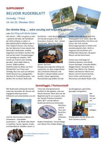 Bericht als pdf - Belvoir Ruderclub Zürich