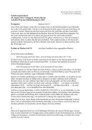 Predigt zu Markus 6,45-51 - Ev.-Luth. Kirche in Oldenburg