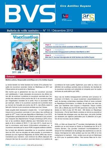Bulletin de veille sanitaire Antilles-Guyane. n°11 - InVS
