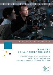 RAPPORT DE LA RECHERCHE 2010 - Devenir-centralien.com