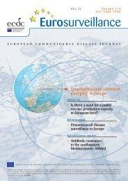 Issue 7-9, July - September 2006 - Eurosurveillance