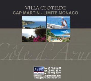 06 Roquebrune Cap Martin - Villa Clotilde - Azur InterPromotion