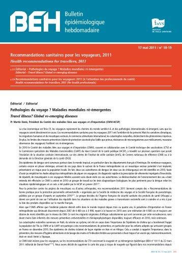 Recommandations sanitaires pour les voyageurs 2011 - InVS